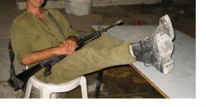 IDF solider and escorting in tel aviv